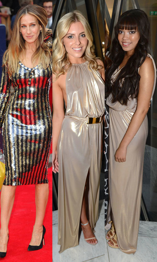 Celebs Sarah Jessica Parker and Mollie King nail the metallics trend