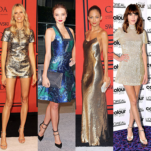 Metallics rule the red carpet at the CFDA Fashion Awards 2013