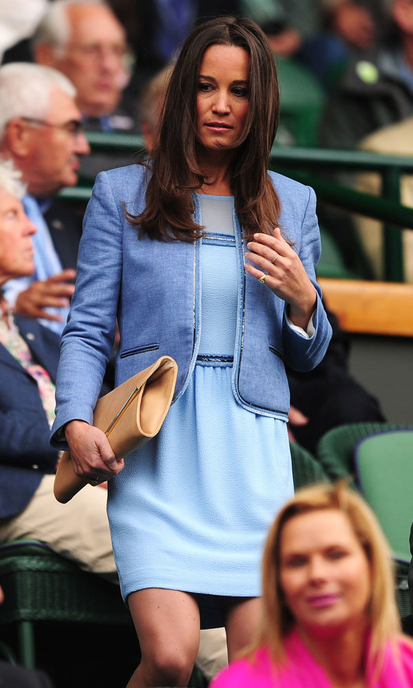 Pippa Middleton style-snaps Kelly Brook at Wimbledon