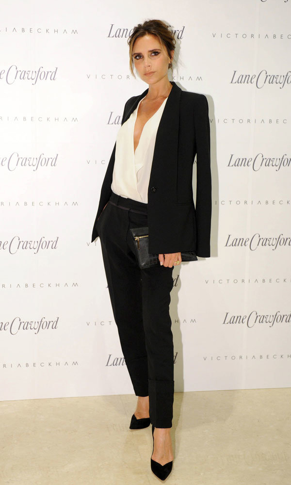What Victoria Beckham wore next… Her latest style hit out in China