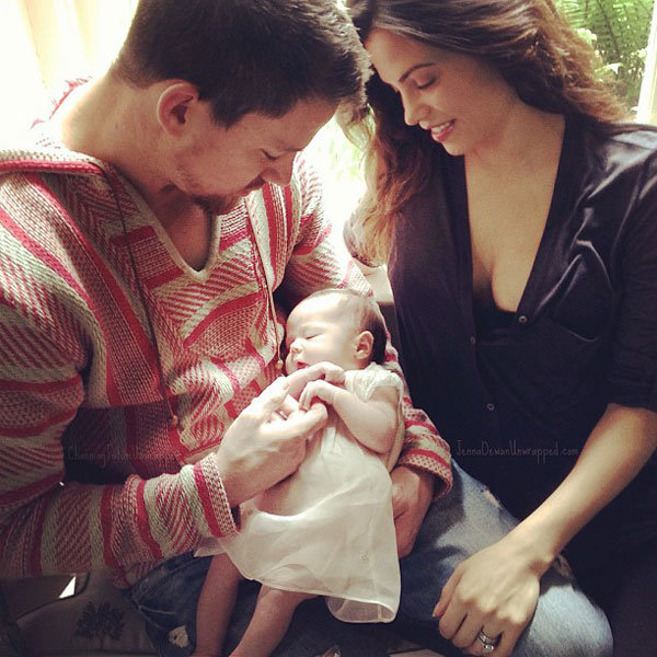 See how the celebs celebrated Father's Day! Including Channing Tatum and baby Everly