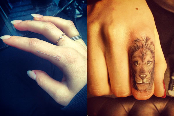 Inked! Ellie Goulding takes tattoo cue from BFF Cara Delevingne