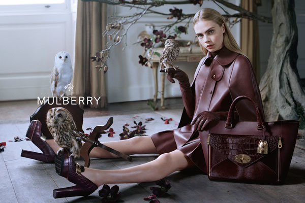 Cara Delevingne is Mulberry's Autumn Winter 2013 campaign star!