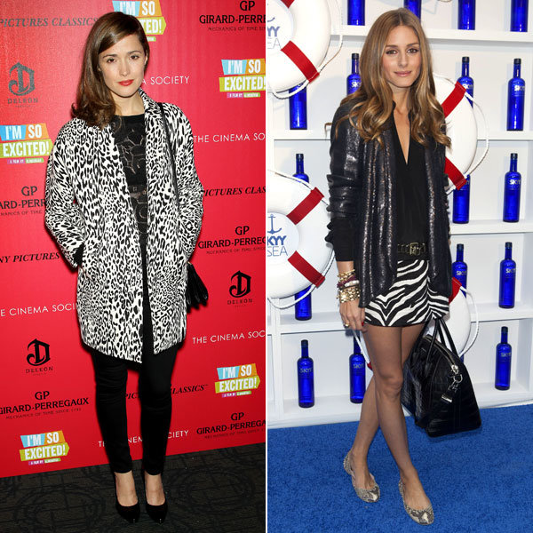 Who works it best? Olivia Palermo and Rose Byrne play style-snap in animal print