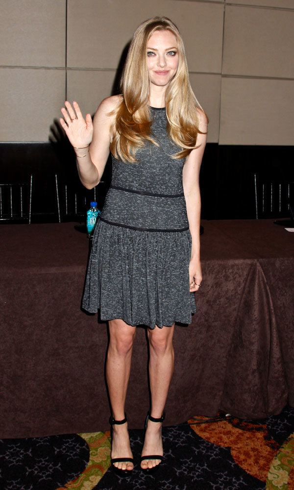 Amanda Seyfried wows with three stunning outfit changes in one day!