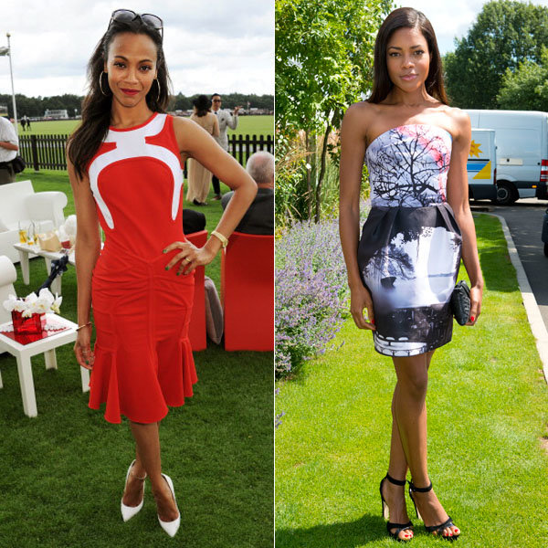InStyle cover stars Zoe Saldana and Naomie Harris wow at Audi International Polo