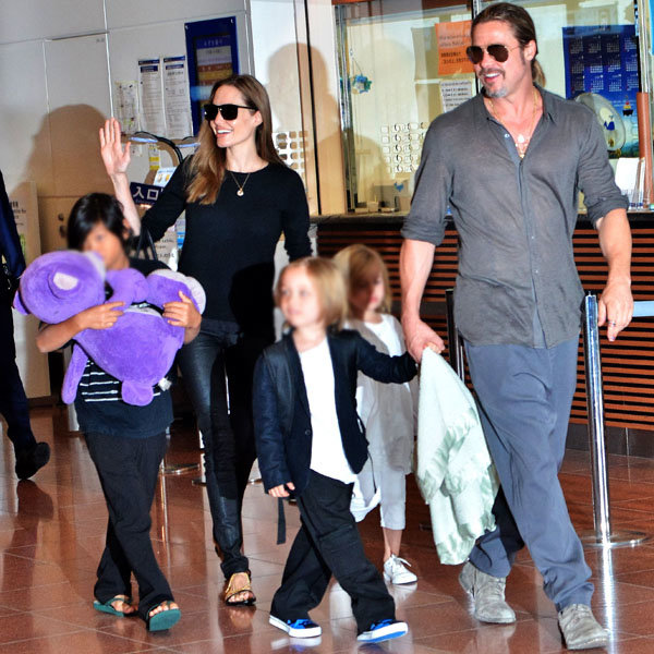 Brad Pitt, Angelina Jolie and their brood enjoy a trip to Japan