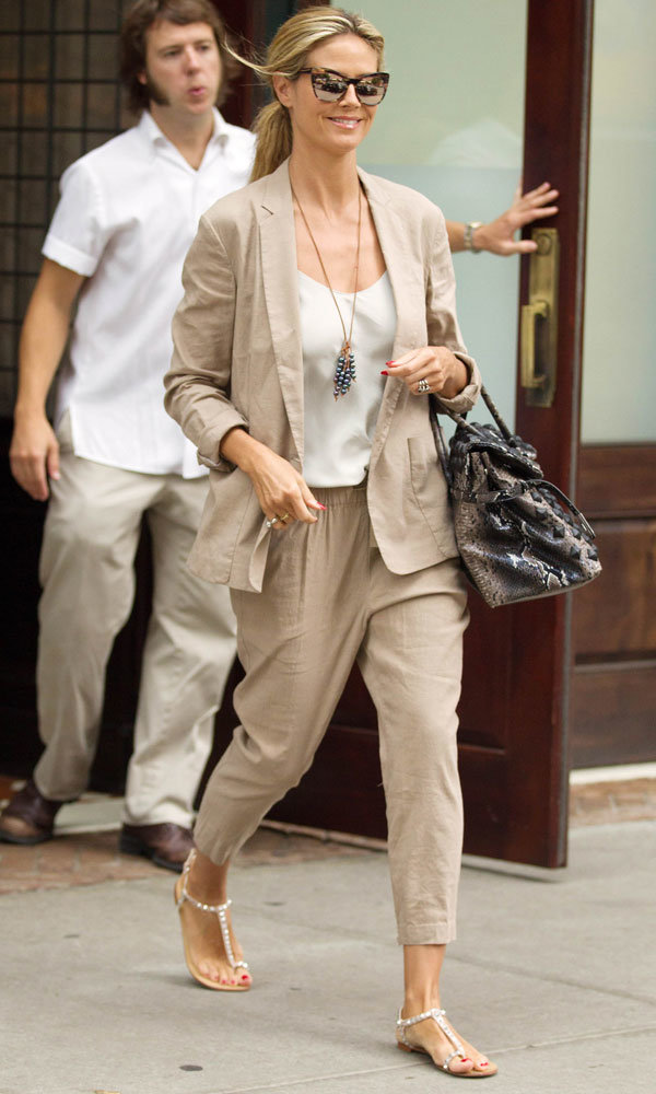 Heidi Klum gives a lesson in grown-up summer chic