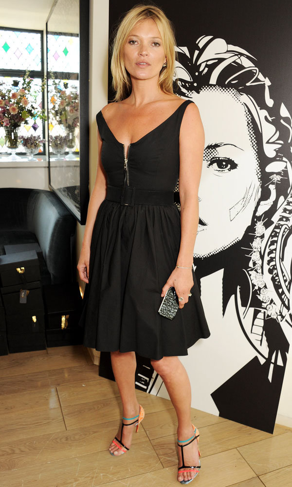 Kate Moss wears Prada for new phone collection launch