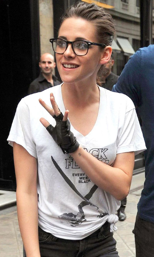 Kristen Stewart shows off new tattoo as she exits Chanel Haute Couture show