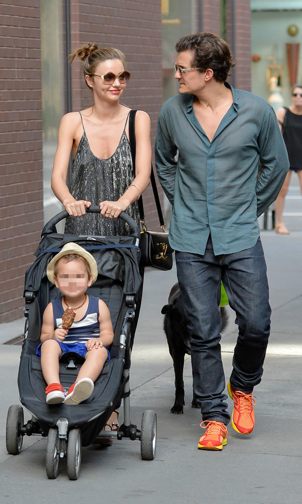 Miranda Kerr and Orlando Bloom enjoy cute family day out with baby Flynn