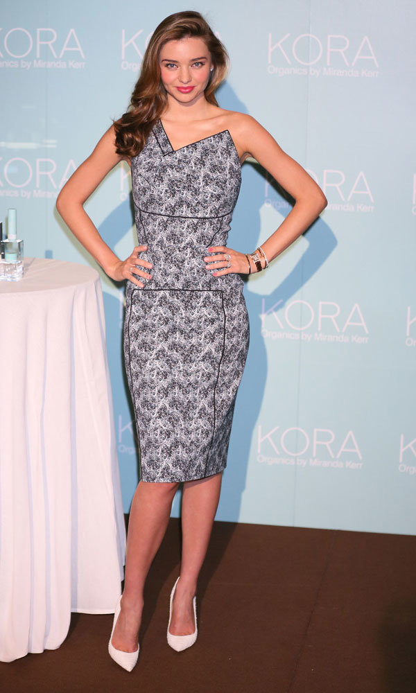 Miranda Kerr wows in Roland Mouret at Kora Organics launch