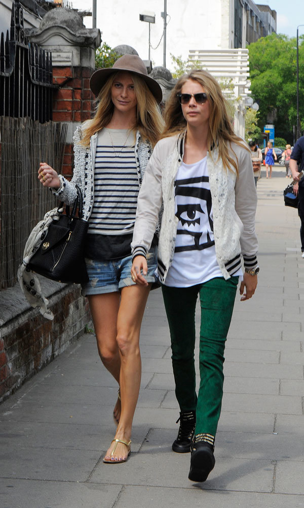 Poppy and Cara Delevingne step out in style
