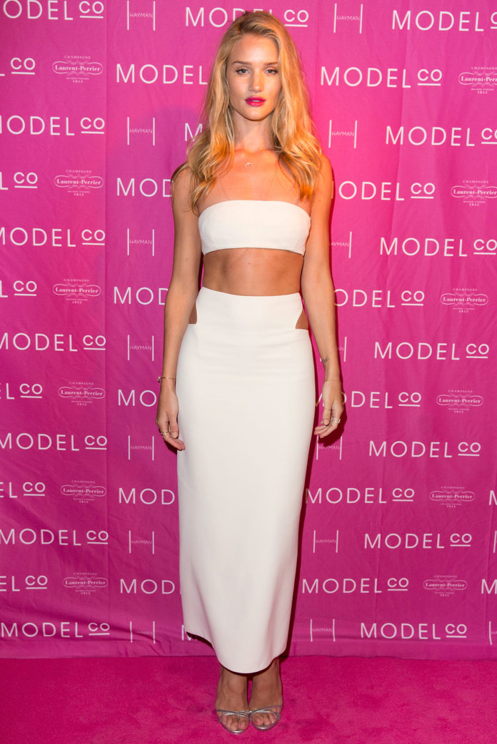 Rosie Huntington-Whiteley stuns in Calvin Klein Collection at ModelCo event