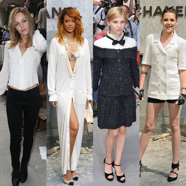 Rihanna, Kristen Stewart and Clemence Posey attend Chanel Haute Couture show