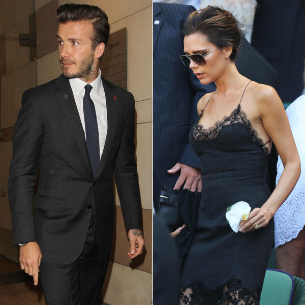 David and Victoria Beckham spotted entering restaurant site with Gordon Ramsay