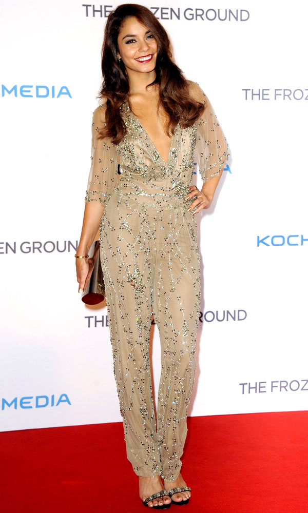 Vanessa Hudgens dazzles in show-stopping Jenny Packham jumpsuit