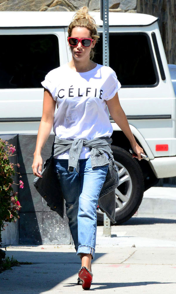 Ashley Tisdale gives a street style lesson in LA