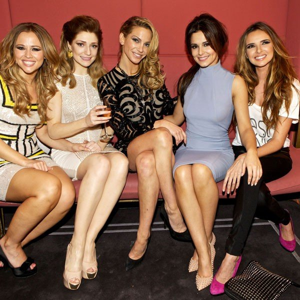 Cheryl Cole and Nicole Roberts congratulate Nadine Coyle on her pregnancy news