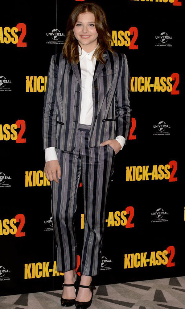 Chloe Moretz works androgynous style in London