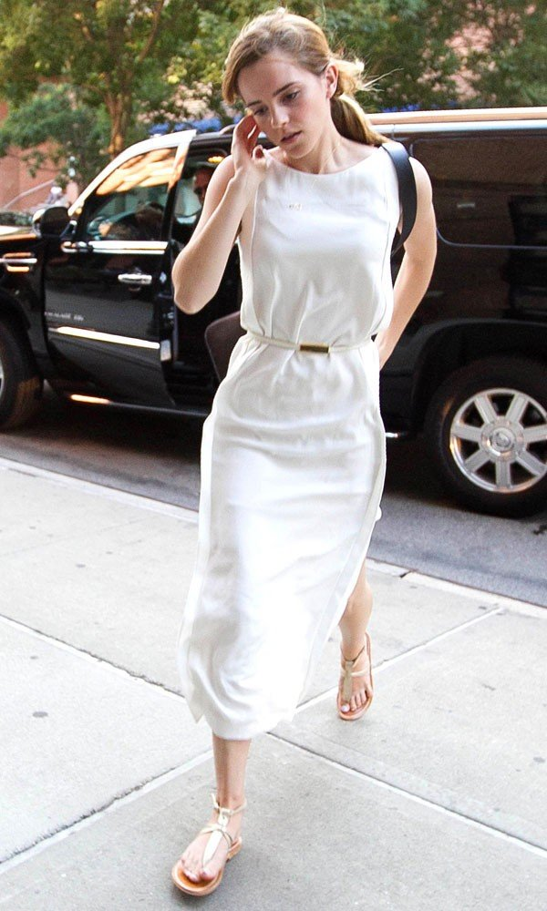 Emma Watson wows in white out in New York