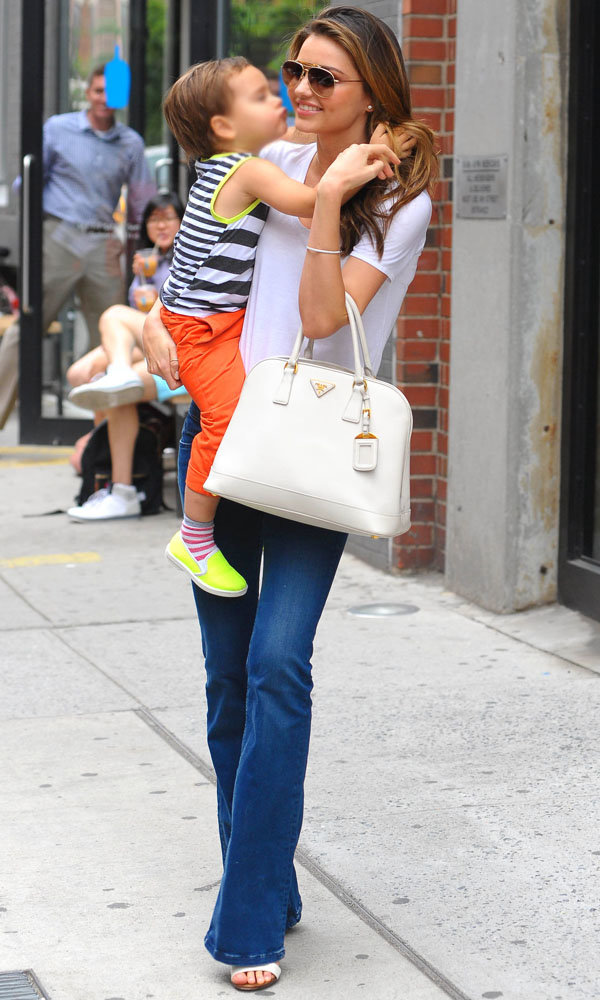 Miranda Kerr Shows Off Chic Street Style With Son Flynn