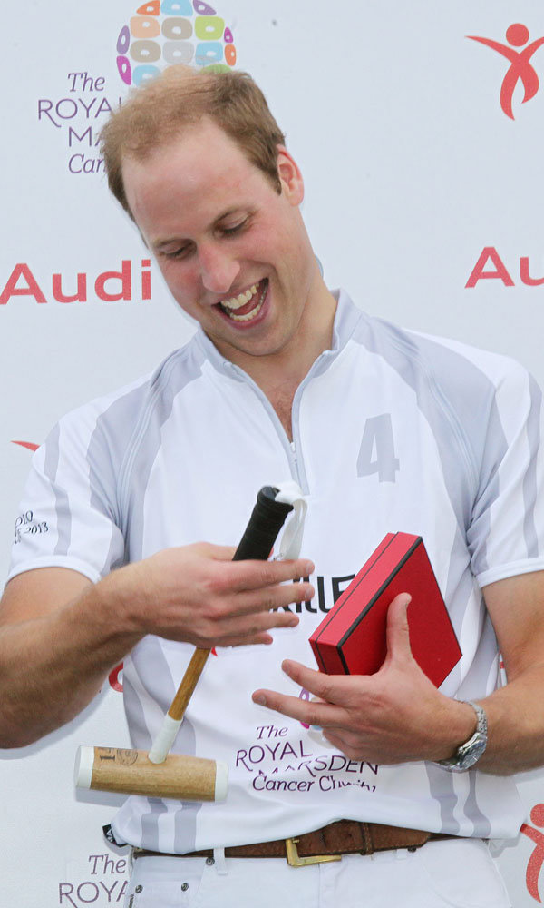 Prince William talks lovingly about Prince George as he attends Audi Polo Challenge