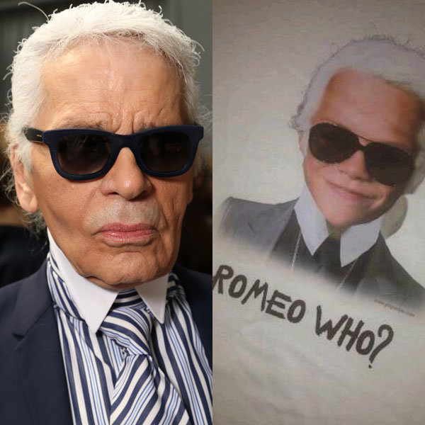 Victoria Beckham reveals pictures of Romeo as Karl Lagerfeld