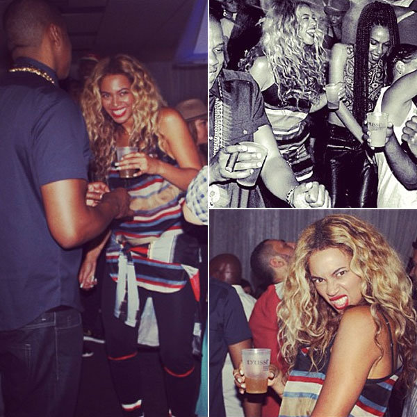 Beyonce parties backstage with husband Jay Z after sell-out concert