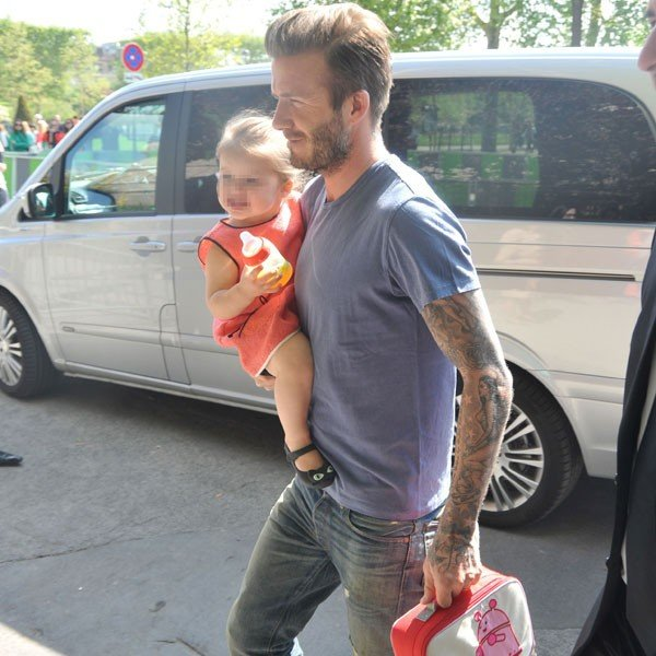 David Beckham takes Harper and the boys to Legoland