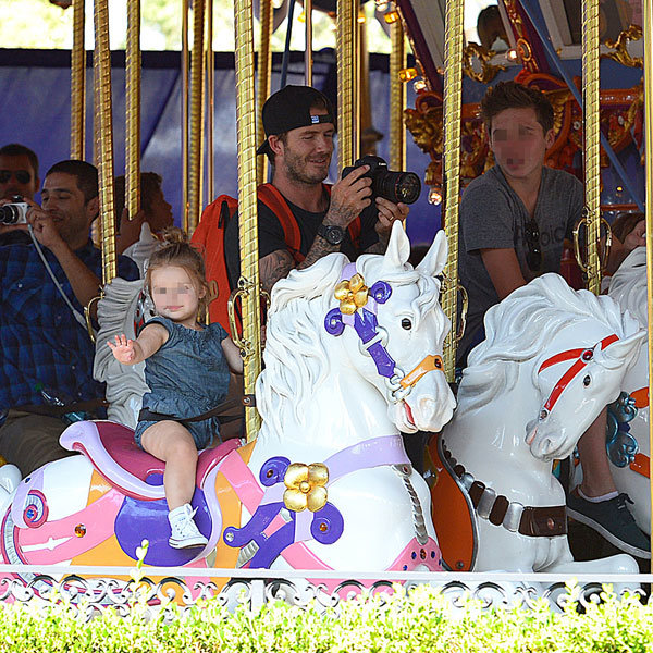 The cutest Harper Beckham picture yet as the Beckham family hit Disneyland
