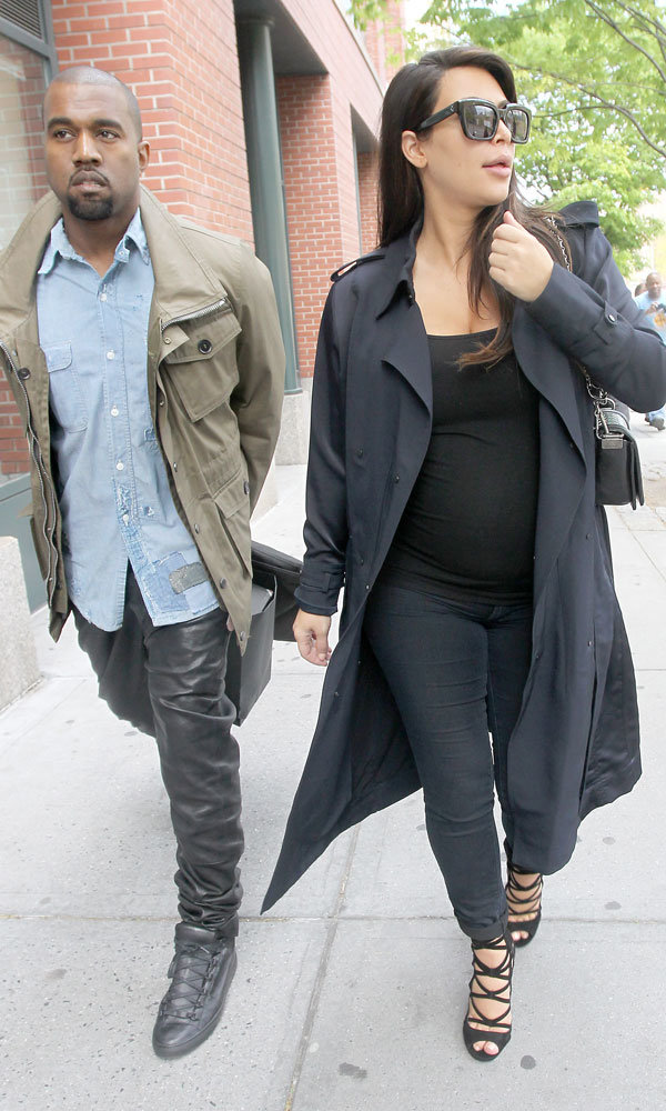 Kim Kardashian and Kanye West spotted out together for first time after birth of North West