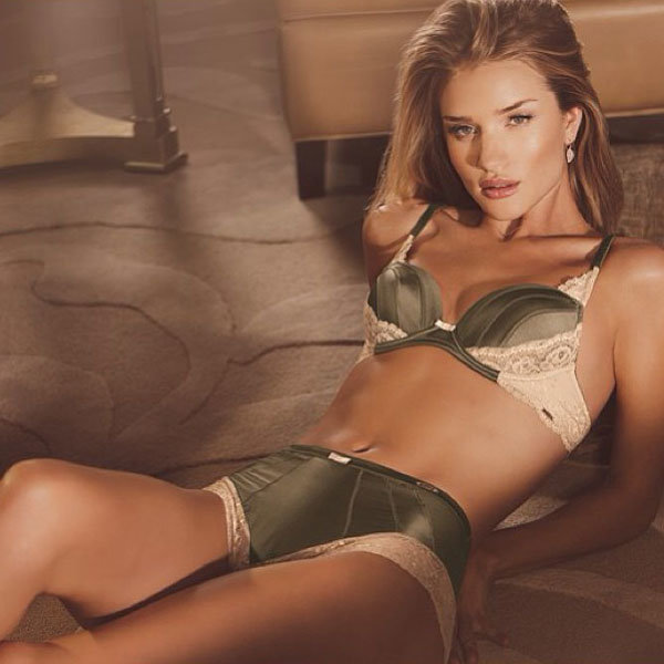 Rosie Huntington-Whiteley sizzles in her M&S anniversary lingerie collection
