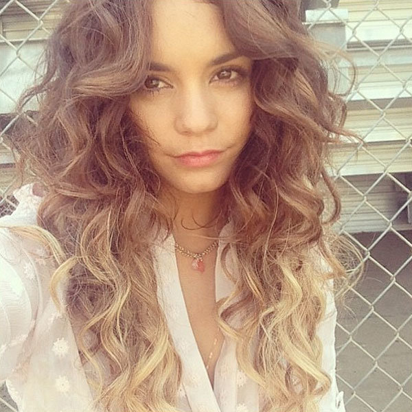 Vanessa Hudgens reveals new ombre dip-dyed hairstyle