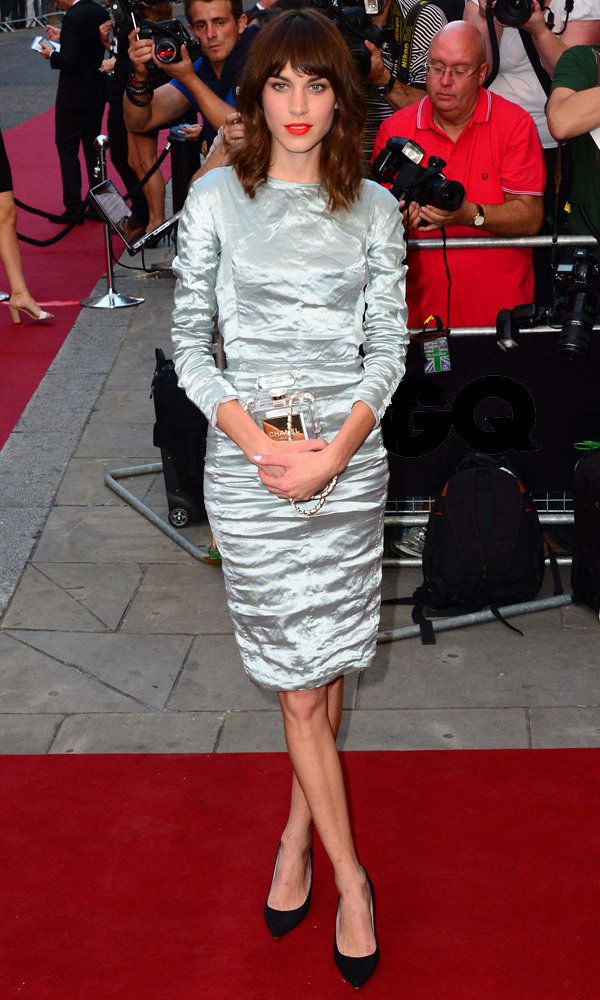 Alexa Chung dazzles in metallics at GQ's Men of the Year Awards