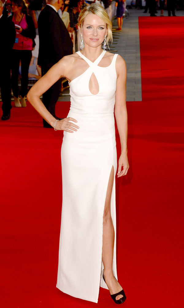 Naomi Watts wows in white at the Diana premiere