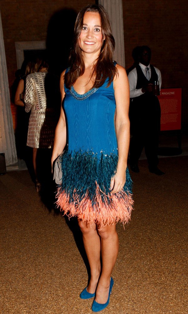 Pippa Middleton Parties In Matthew Williamson Feathers
