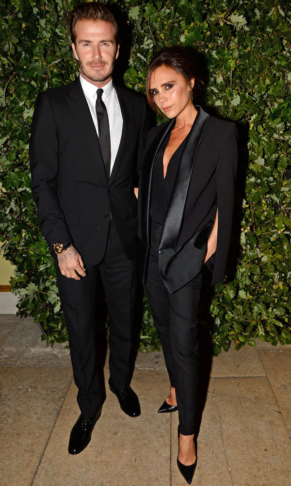 David And Victoria Beckham Suit Up For London Fashion Week Party