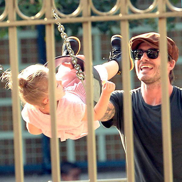 David Beckham And Harper Enjoy A Day Out Together At The Playground