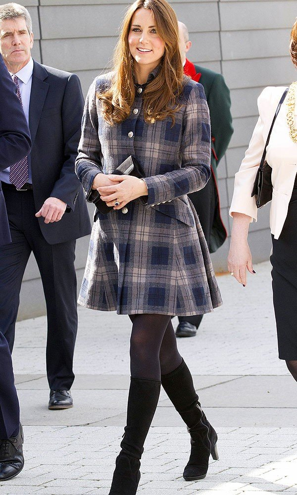 Kate Middleton Reworks Checked Moloh Coat for Weekend In Balmoral