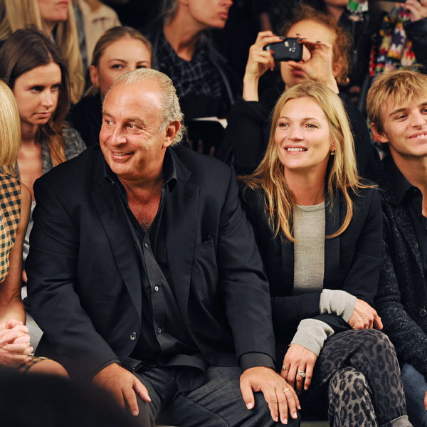 Kate Moss Leads Fashion Pack On Front Row At Topshop Unique SS14