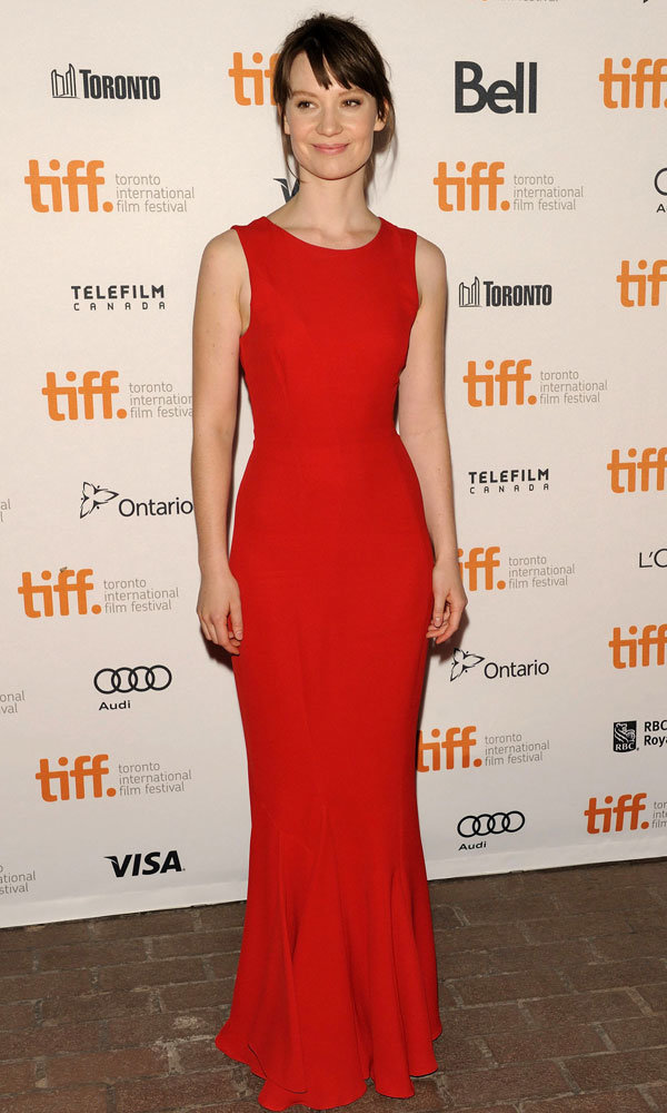 Mia Wasikowska is the lady in red at the Toronto Film Festival