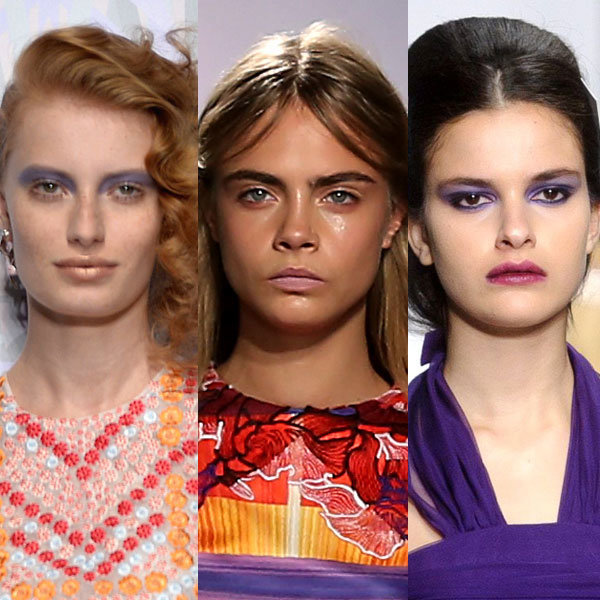 Spring Summer 2014 Beauty: Go Violet As Seen At Fashion Week