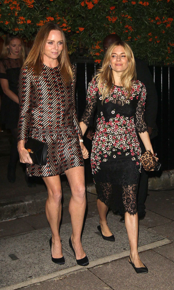 Sienna Miller And Stella McCartney Party In Prints