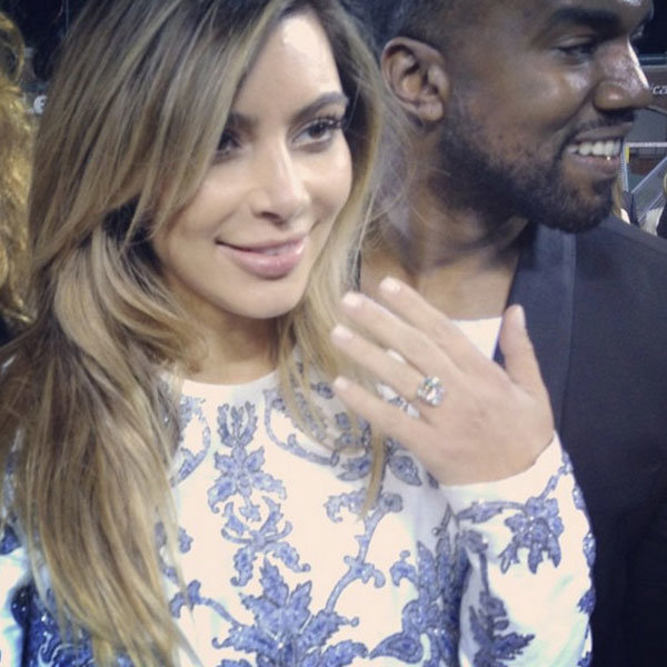 Kim Kardashian And Kanye West Are Officially Engaged... See The Ring!