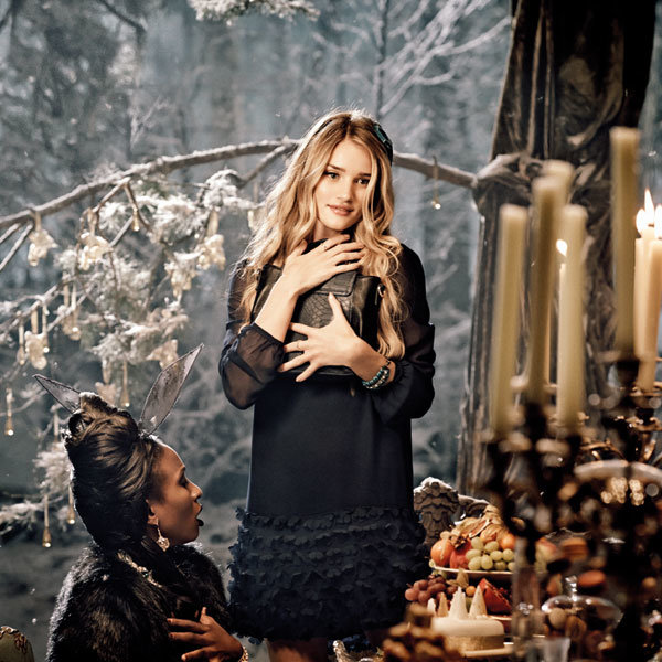 Rosie Huntington-Whiteley Sparkles In Brand New M&S Christmas Ad