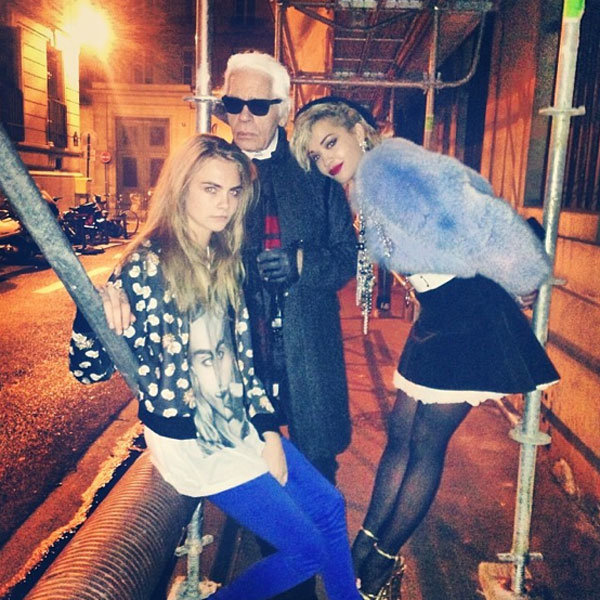 Cara Delevingne Joins Karl Lagerfeld And Rita Ora On Secret Chanel Shoot