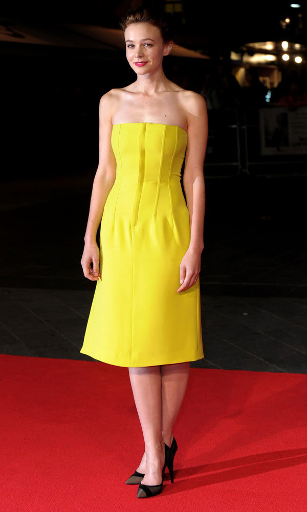 Carey Mulligan Lights Up The Red Carpet In Sunshine Yellow Dior