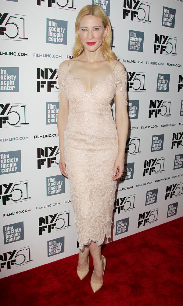 Cate Blanchett Stuns In Nude Lace At The 2013 New York Film Festival