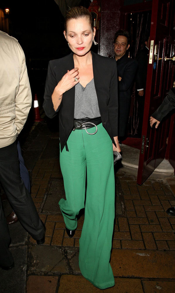 Kate Moss Returns To The London Party Scene Following Fashion Week